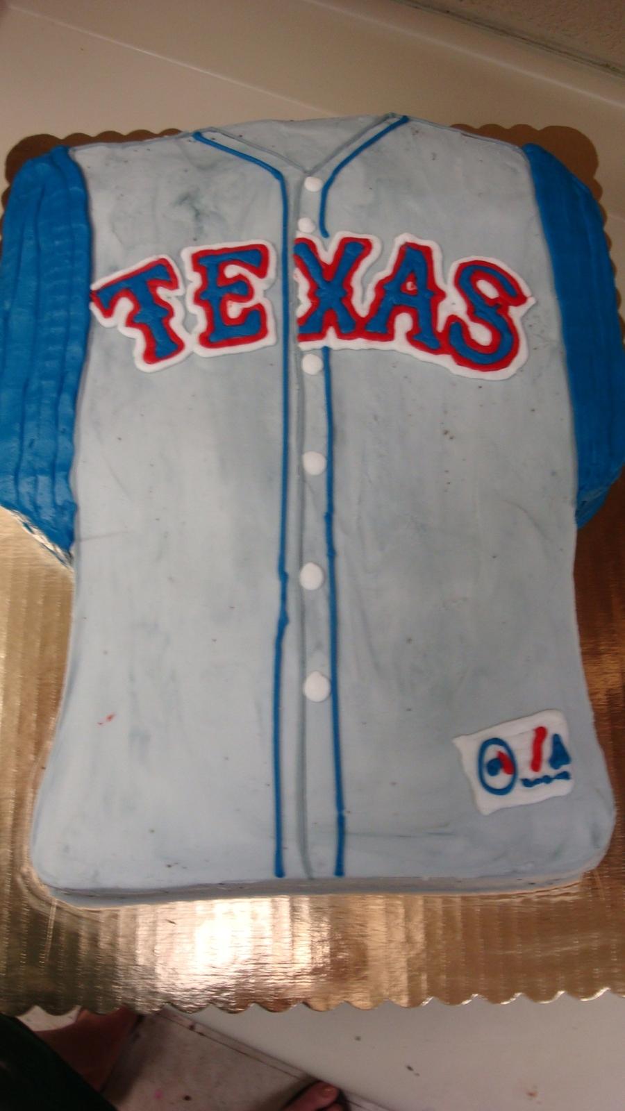 Texas Ranger Jersey Cake