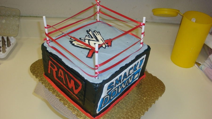 Wwe 3D Ring Cake on Cake Central