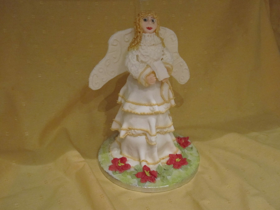 Christmas Angel Cake on Cake Central