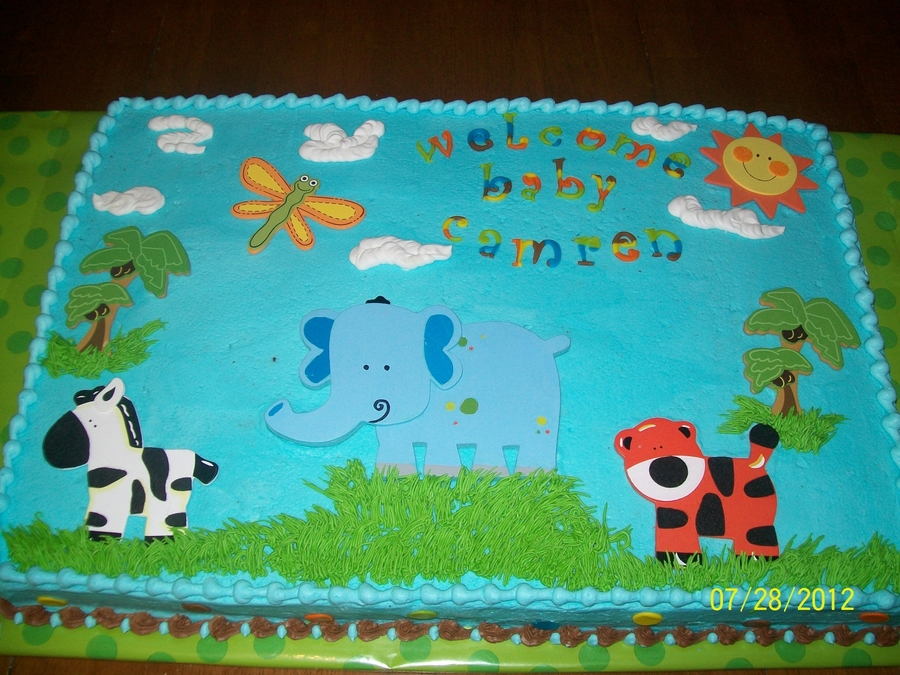 Jungle Theme Baby Shower Cake Sayings