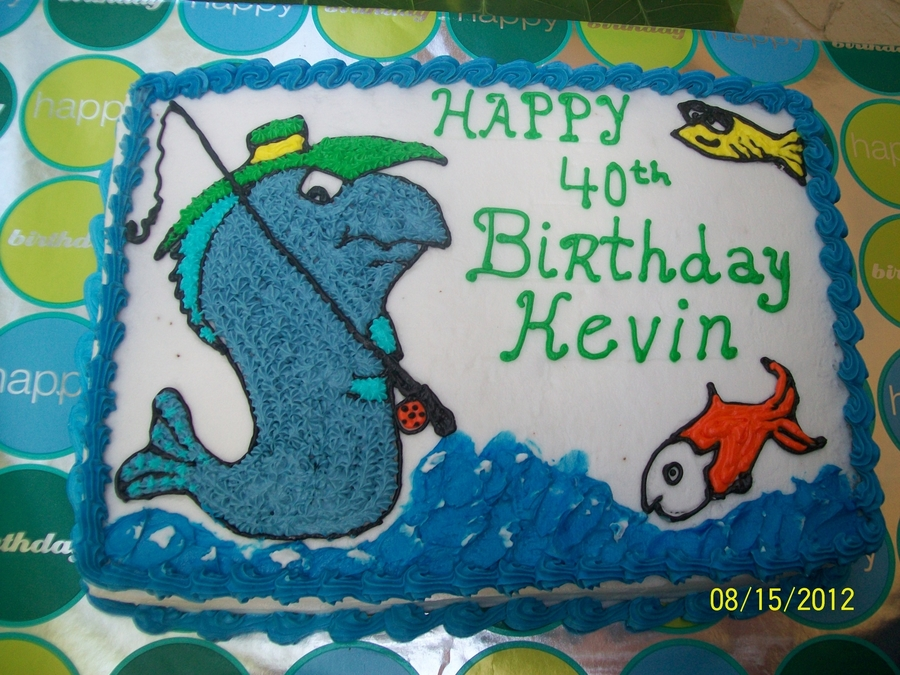 """gone Fishin"" on Cake Central"