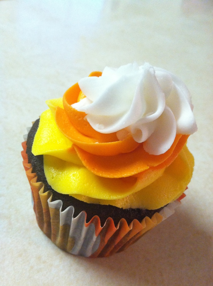 Candy Corn Cupcake on Cake Central