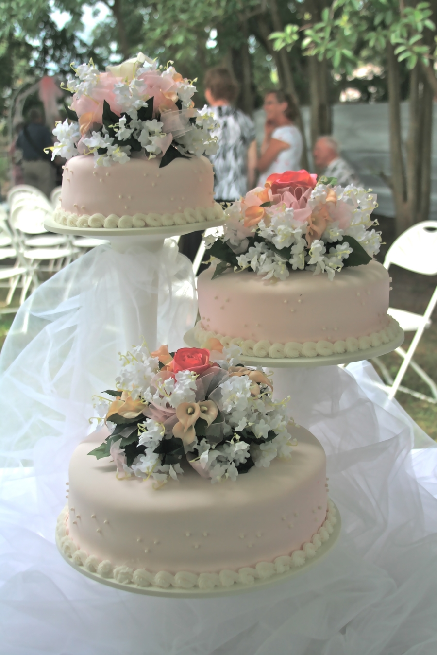 3 Tier Cascade Wedding Cake  on Cake Central