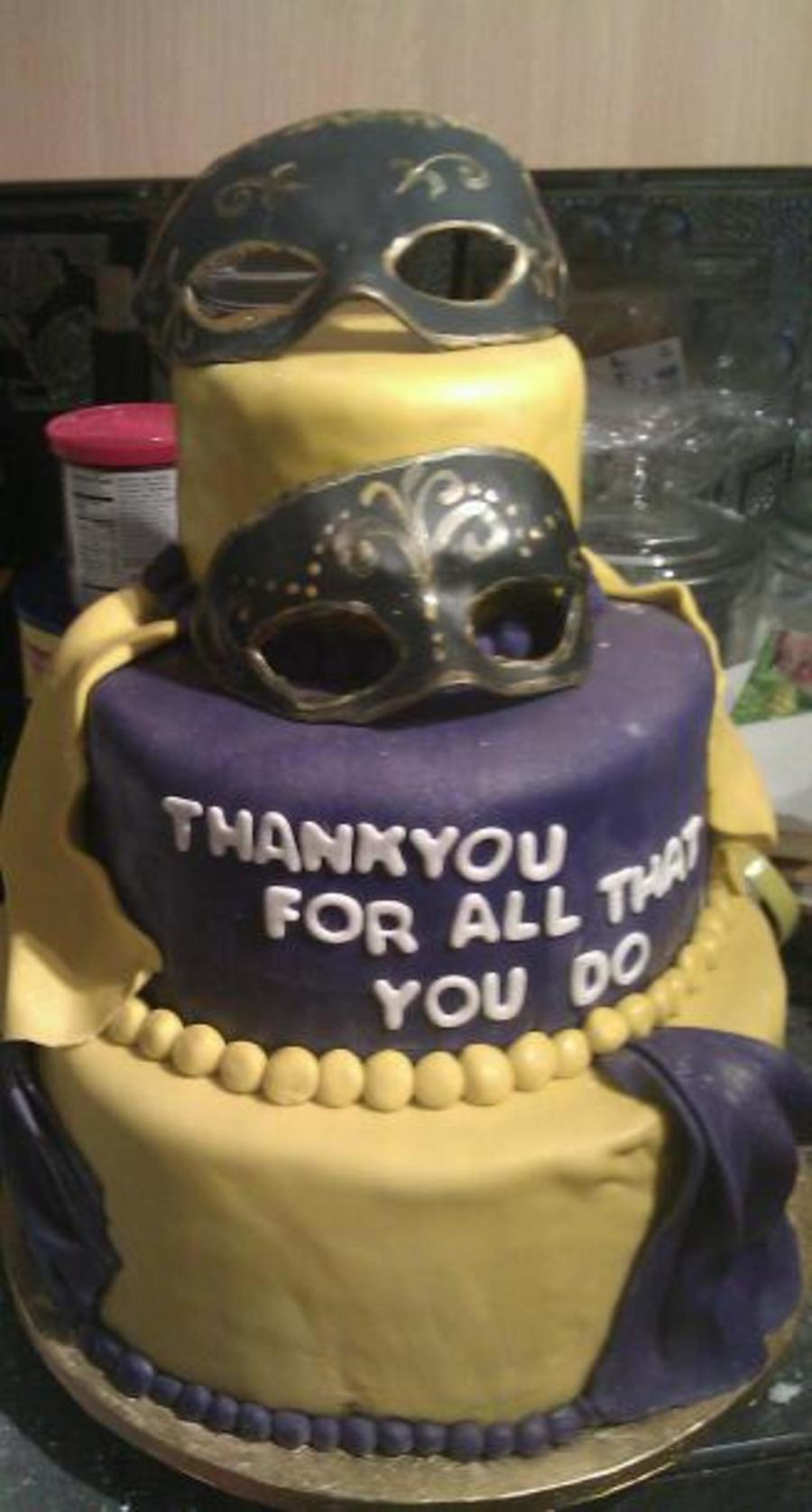 Mardi Gras Thank You on Cake Central