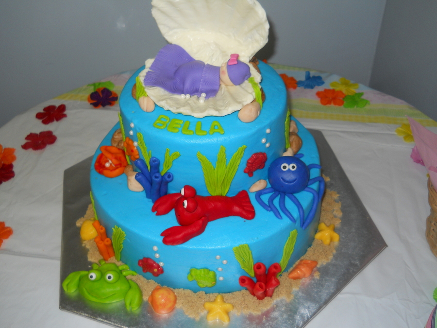 Beach Baby Shower on Cake Central