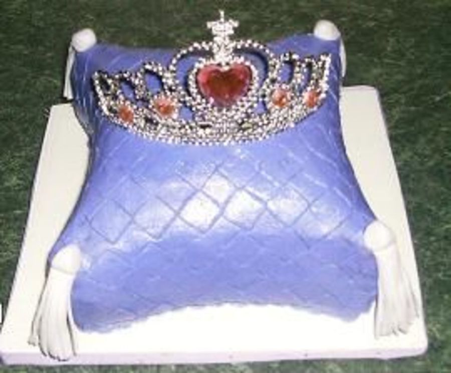 Pillow Cake With Tiara on Cake Central