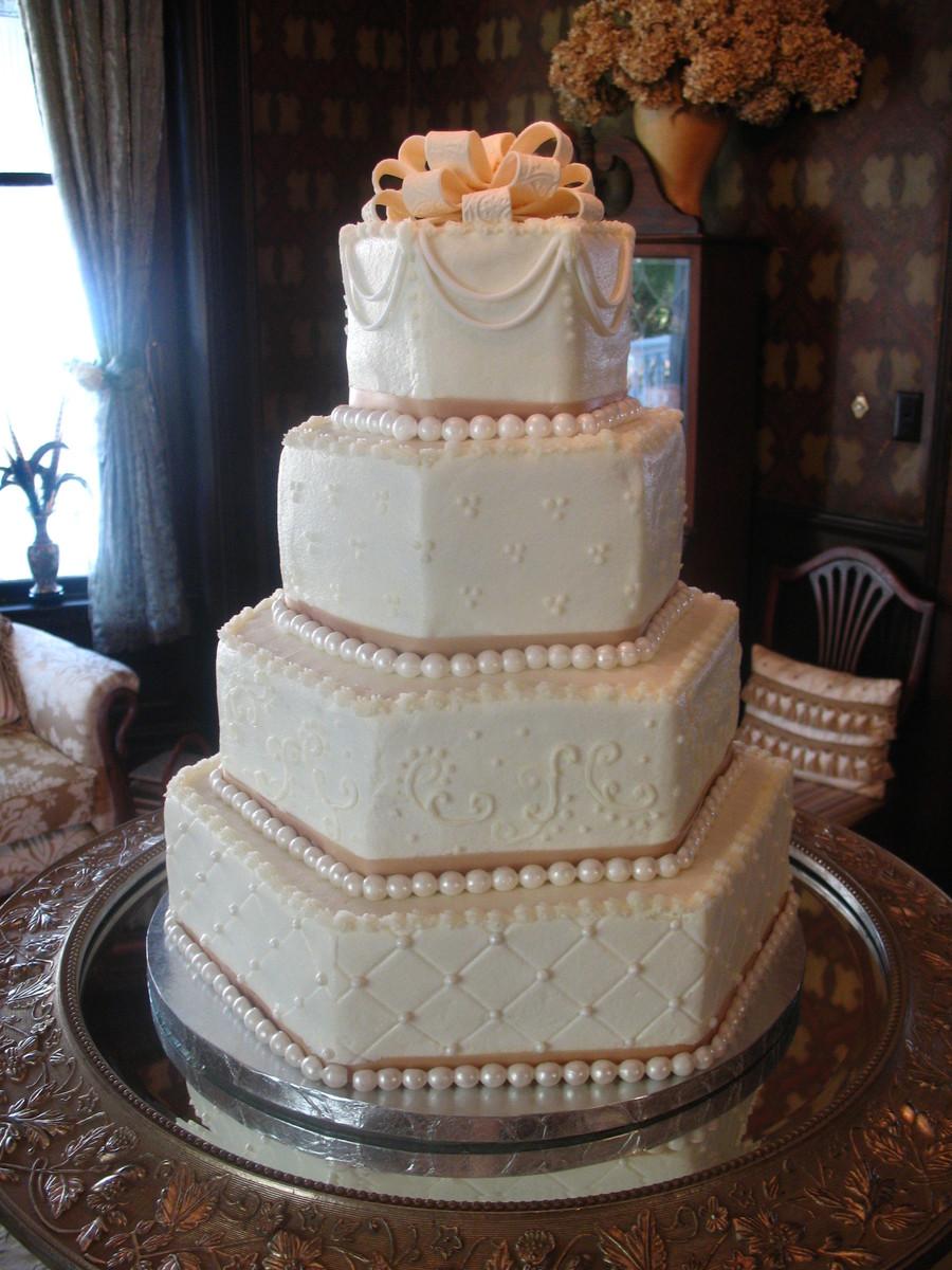 Cover Hexagon Cake Fondant