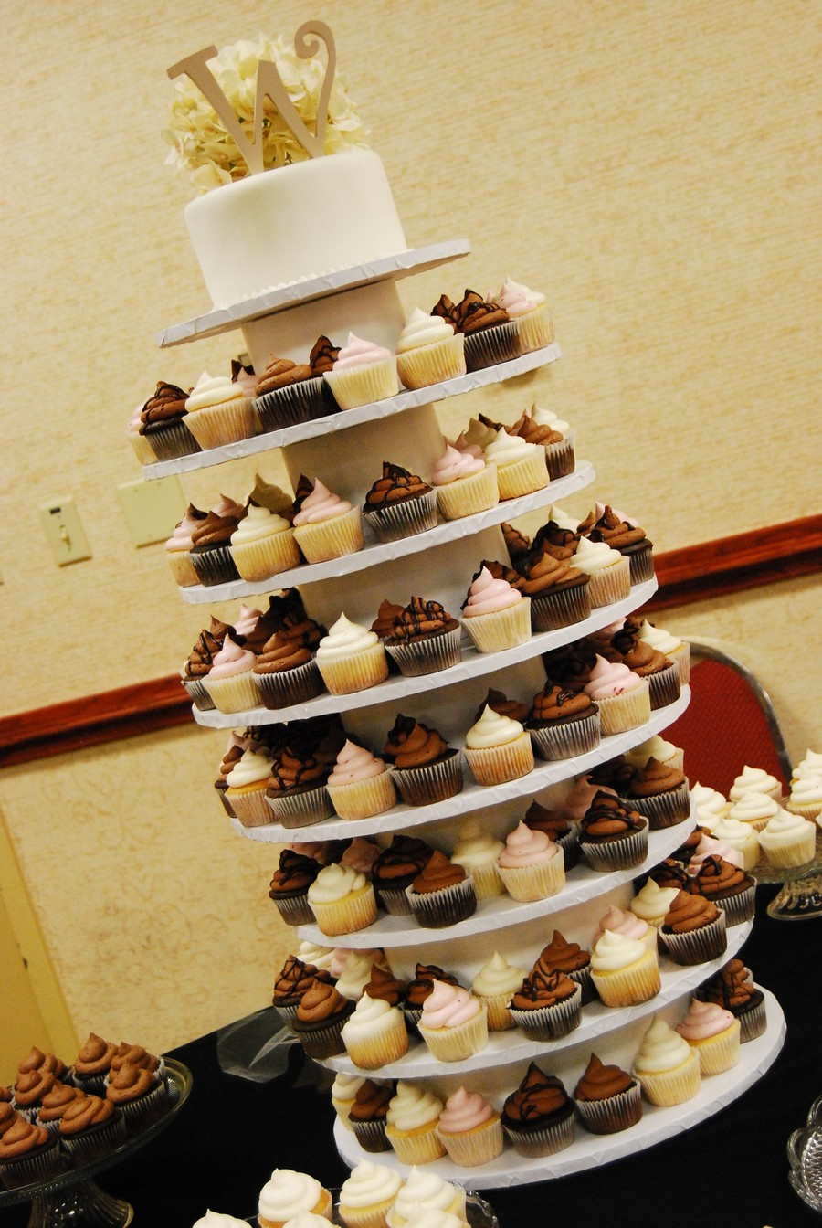 Wedding Cupcake Tower - CakeCentral.com