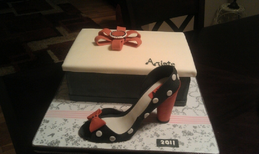 Shoe Box And Shoe Cake on Cake Central
