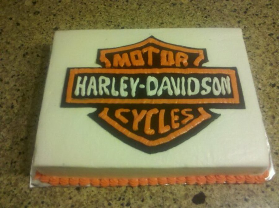 Harley Davidson Sheet Cake CakeCentralcom