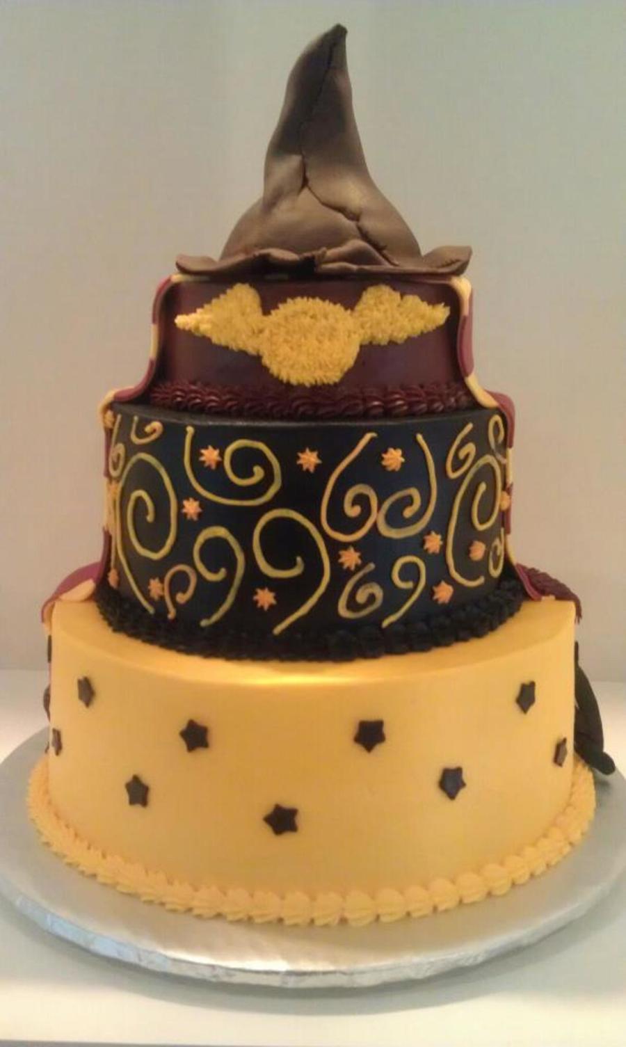 Harry Potter Wand Birthday Cake