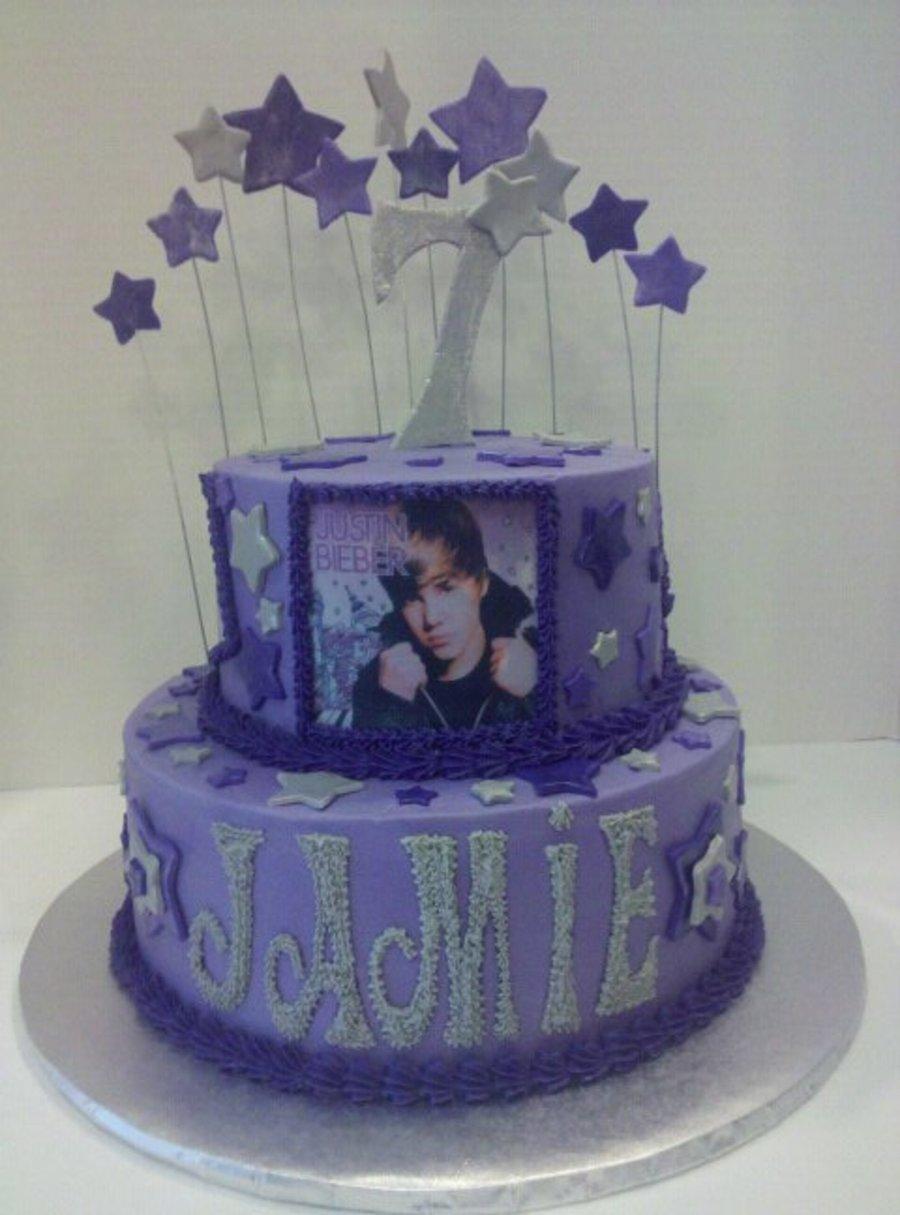 Sensational Justin Bieber Birthday Cake Cakecentral Com Funny Birthday Cards Online Elaedamsfinfo