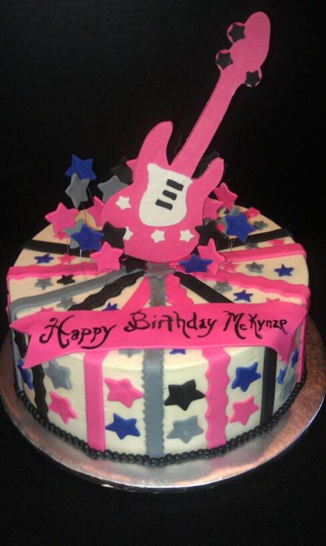 Fine Rockstar Guitar Cake Cakecentral Com Funny Birthday Cards Online Kookostrdamsfinfo
