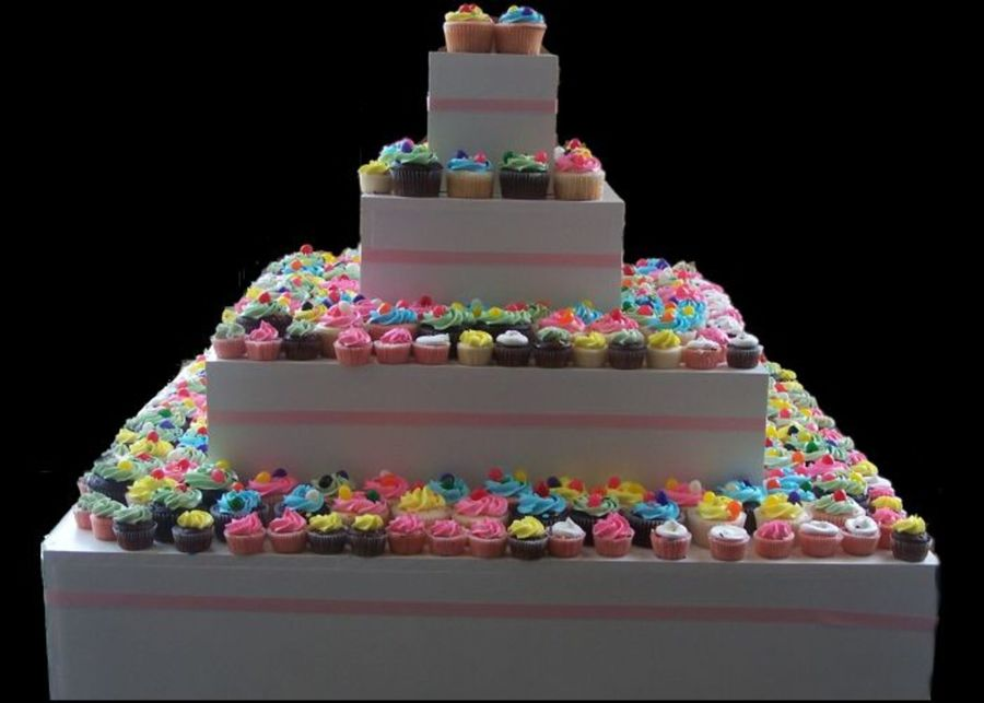 Wedding Cupcakes And Wooden Cupcake Stand Cakecentralcom