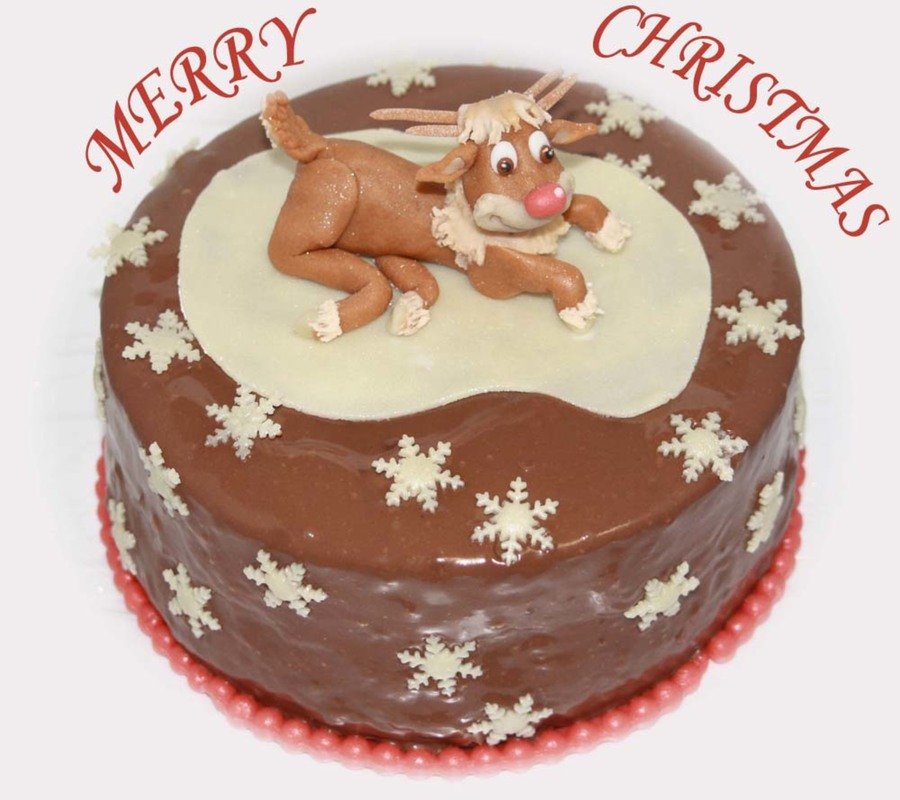Rudolf The Red Nosed Reindeer  on Cake Central
