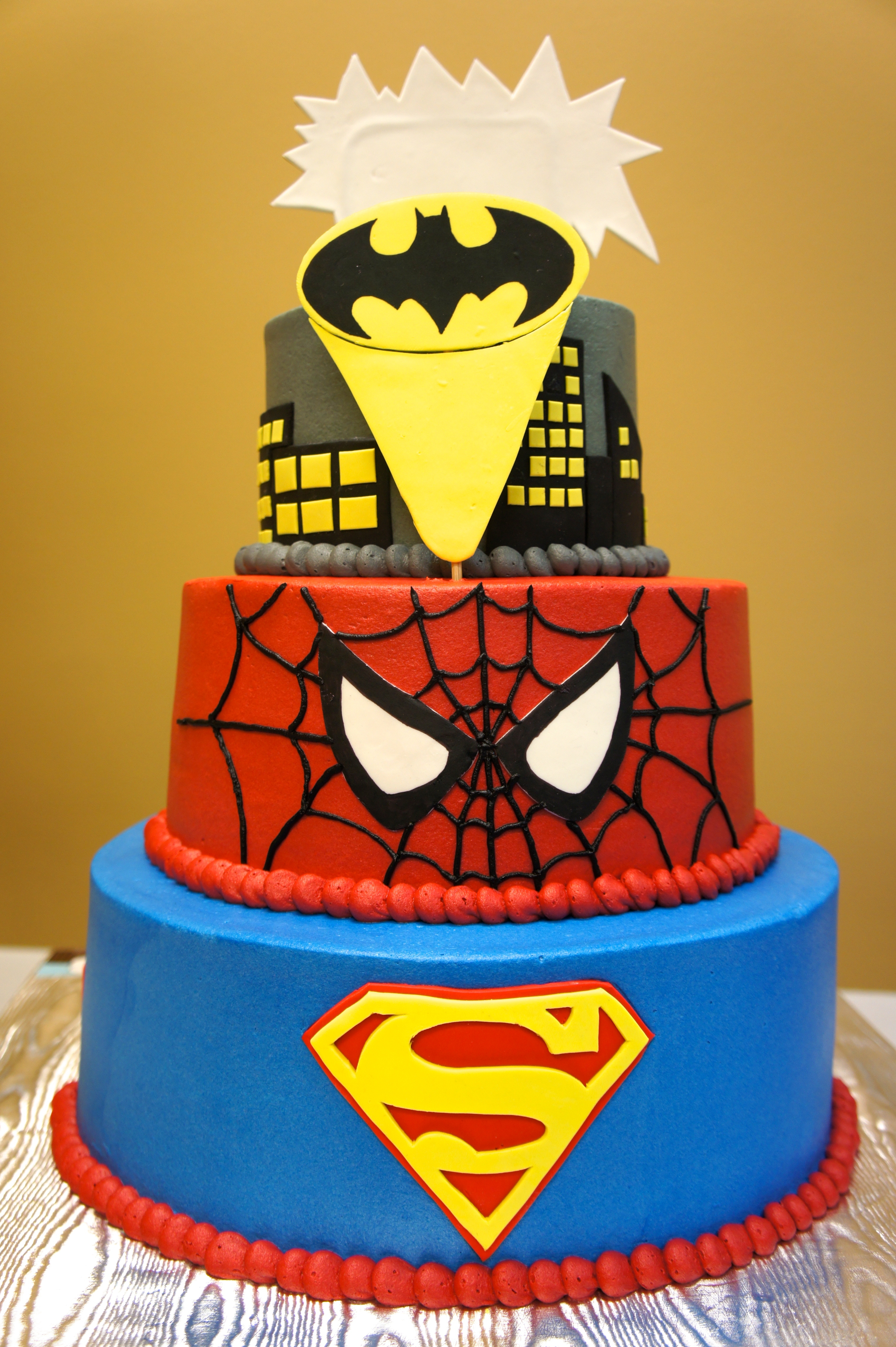 Superhero Cake Avengers On The Front Cakecentral Com