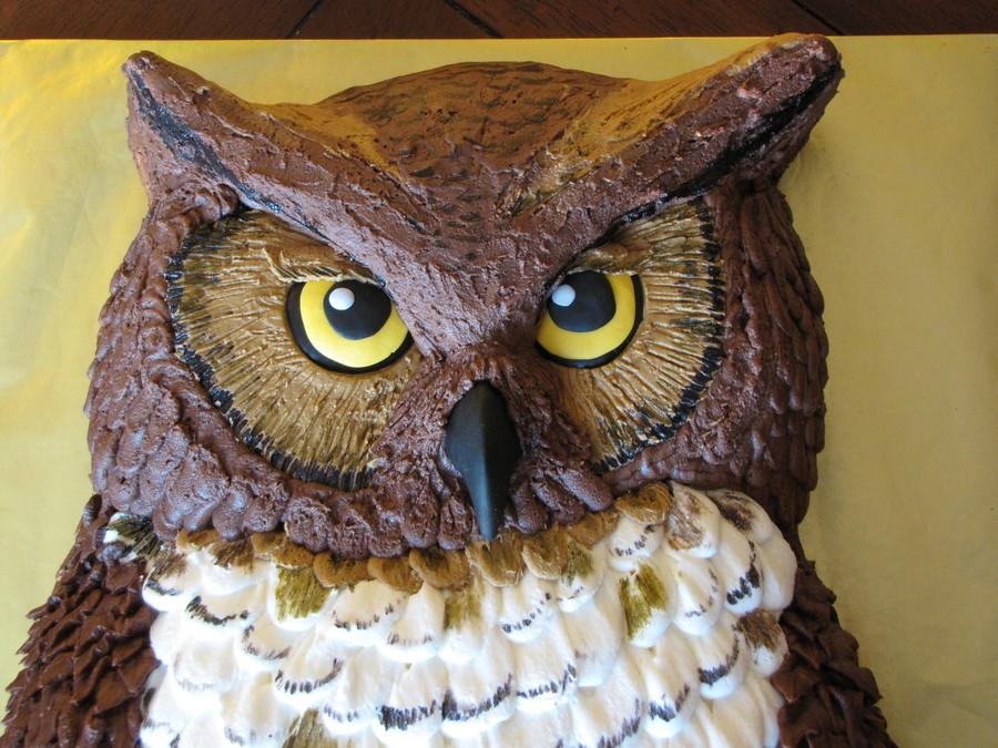 Owl Birthday Sheet Cake