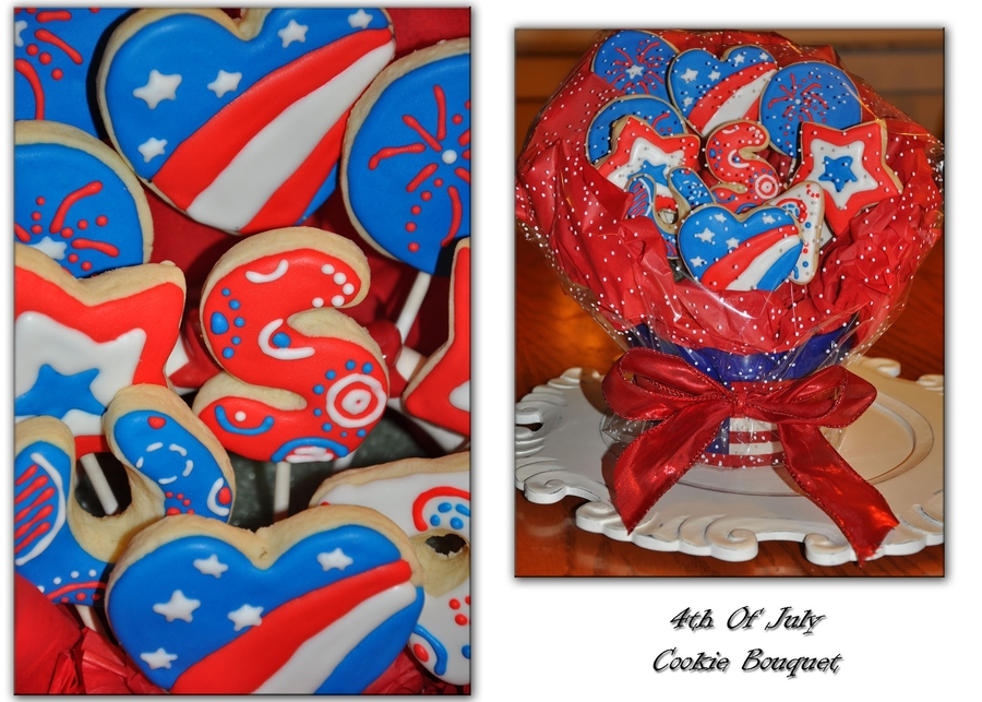 July 4Th Cookie Bouquet on Cake Central