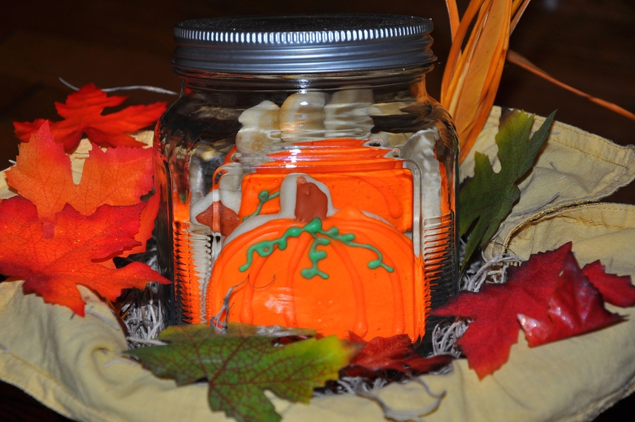 Fall Cookie Jar  on Cake Central