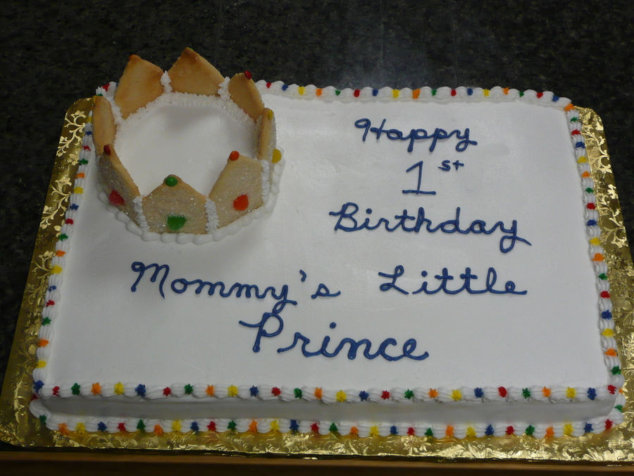Happy Birthday My Little Prince CakeCentralcom