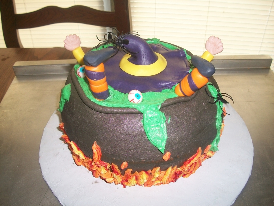Halloween Cauldron Cake on Cake Central