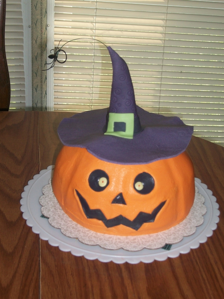 Halloween Pumpkin Cake on Cake Central