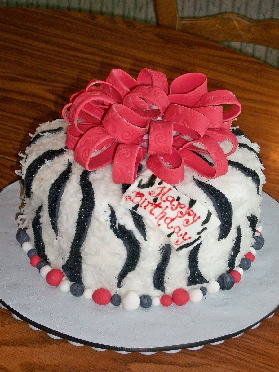Coconut Zebra Cake on Cake Central