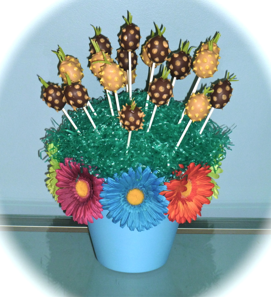 Pineapple Cake Pop Bouquet Cakecentral