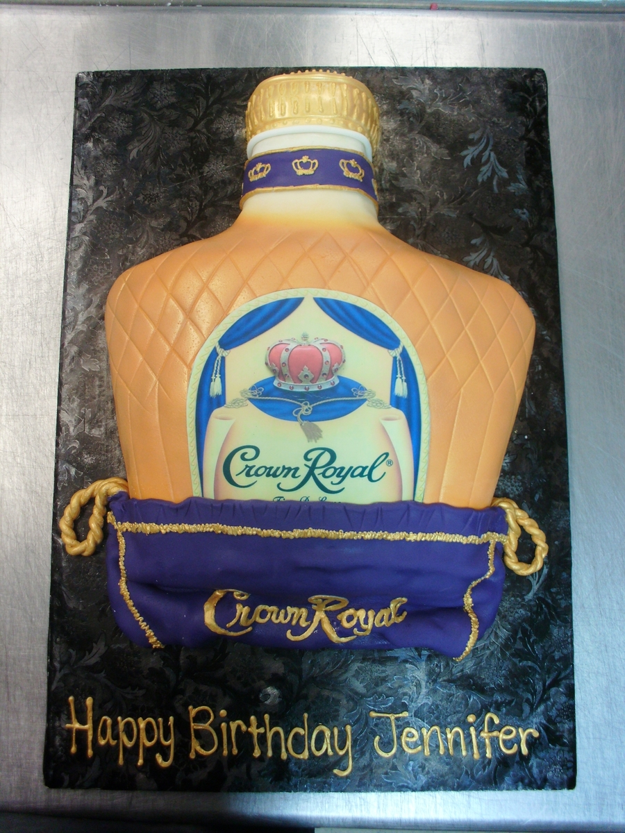 Crown Royal Bottle on Cake Central