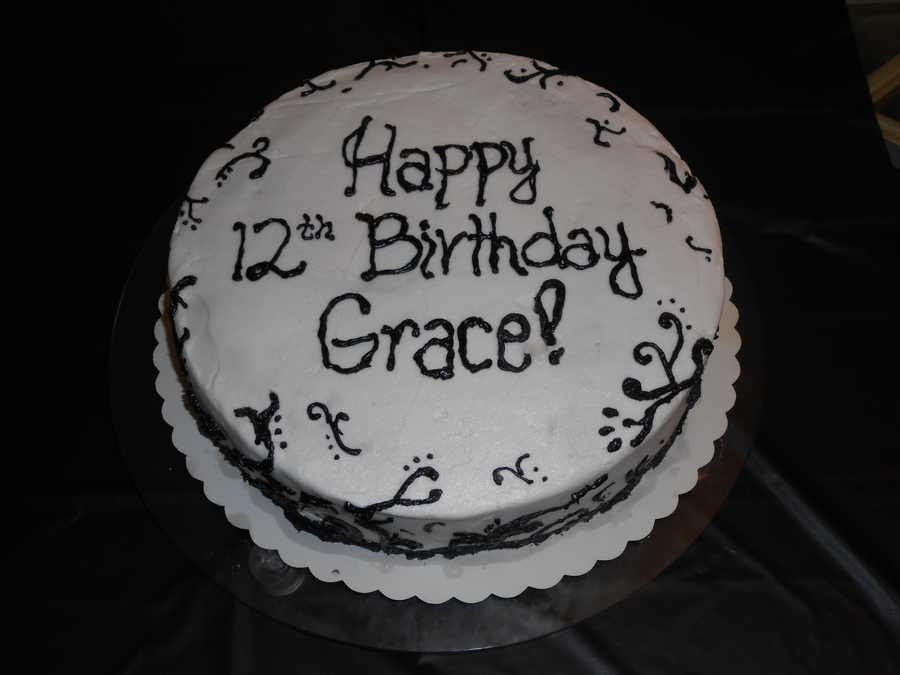 Wasc Cake With Buttercream Icing Black And White Parisian on Cake Central