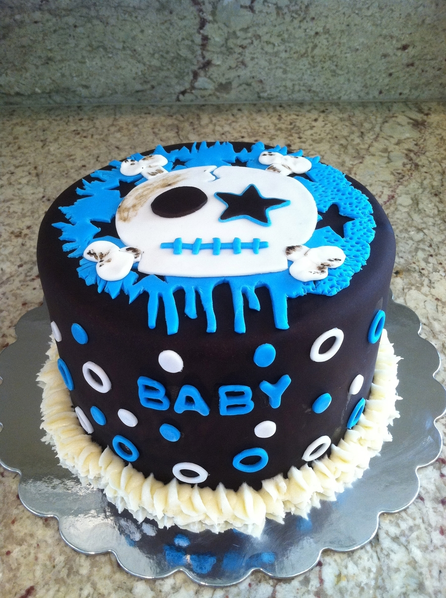 Skullitude Baby Shower Cake Cakecentral Com