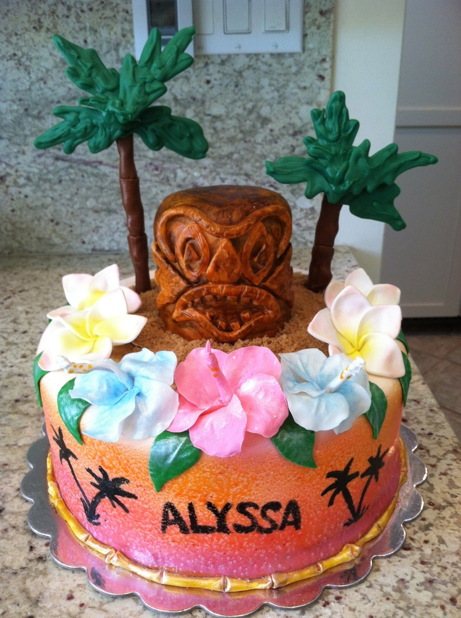 Hawaiian Themed Cake Cakecentral