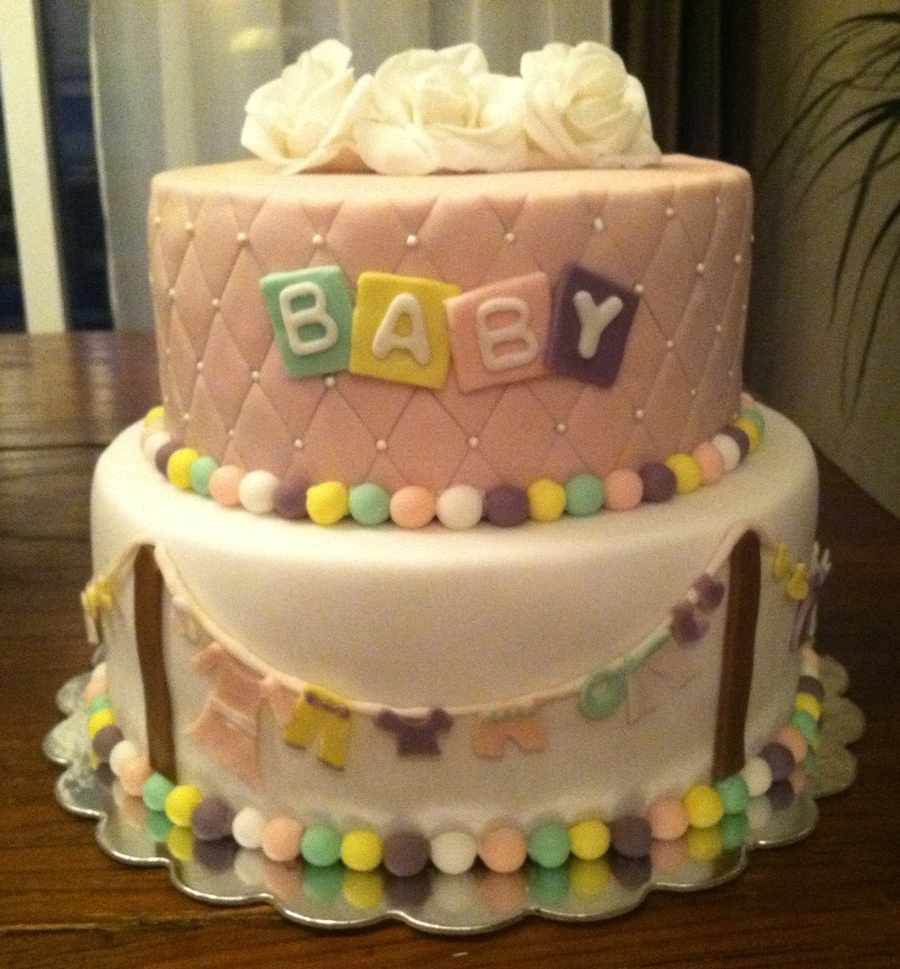 Baby Shower Clothes Line Cake Cakecentral