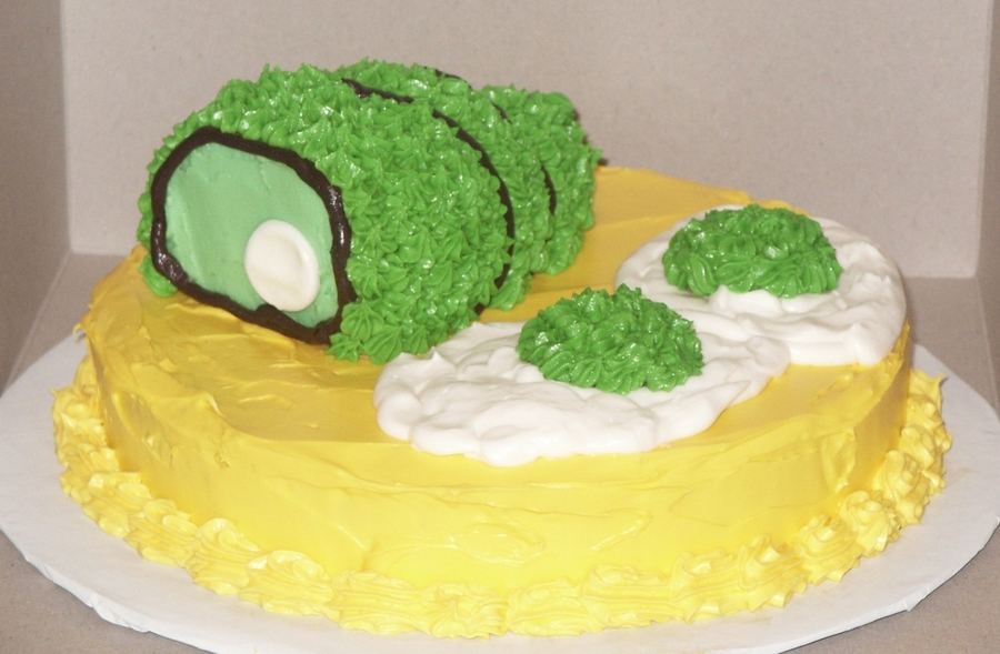 Green Eggs And Ham on Cake Central