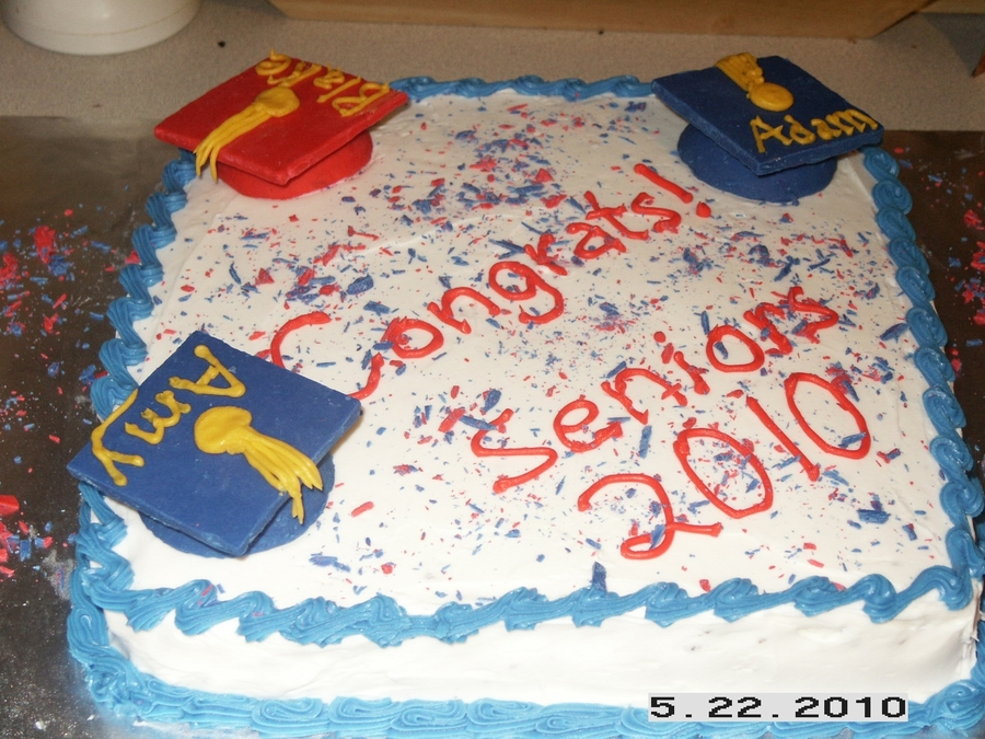 Graduation Cake For Three on Cake Central