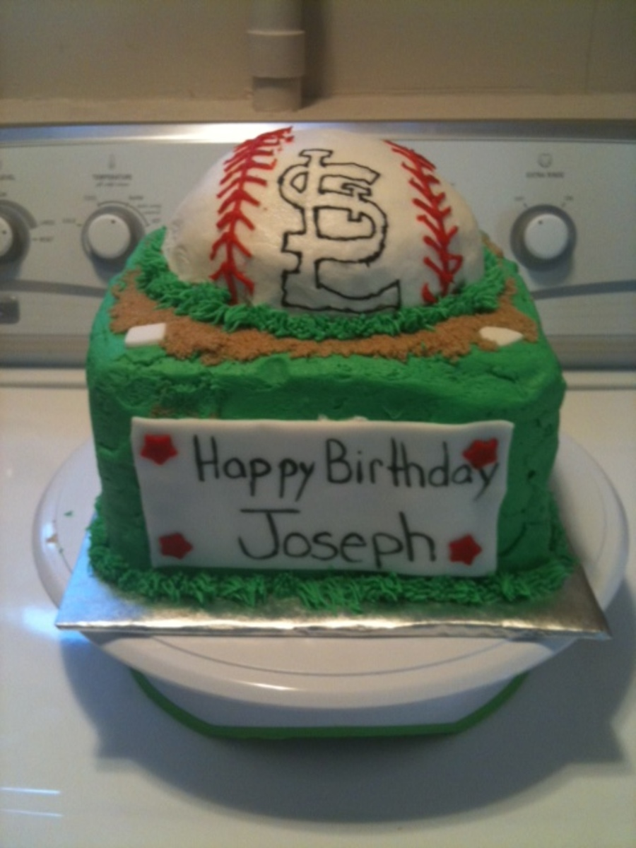 Marvelous St Louis Cardinals Birthday Cakecentral Com Funny Birthday Cards Online Fluifree Goldxyz