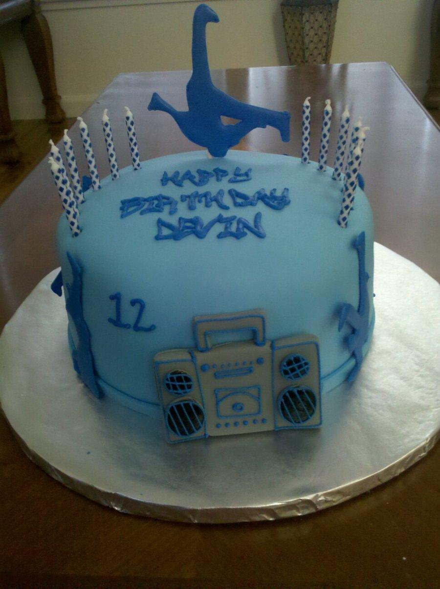 Sensational Break Dancing Cake Cakecentral Com Personalised Birthday Cards Cominlily Jamesorg