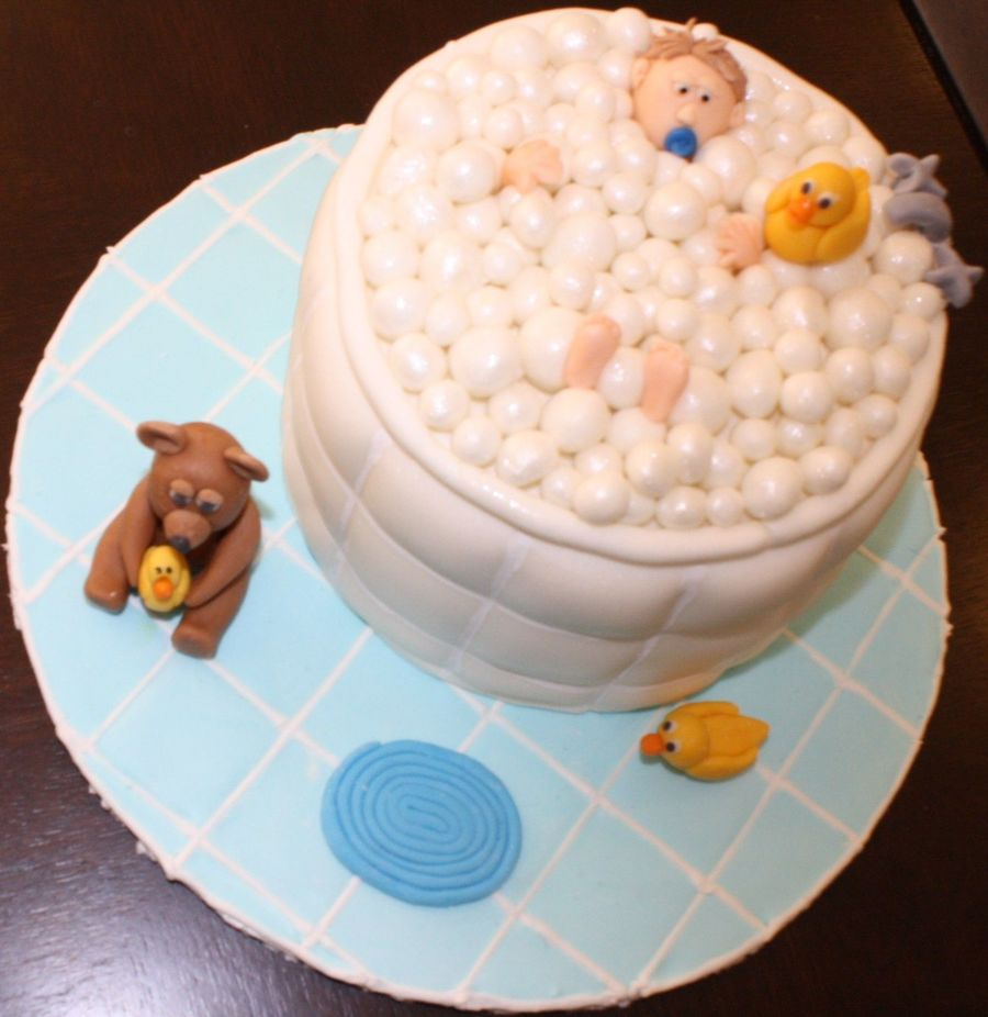 Baby With Bubbles on Cake Central