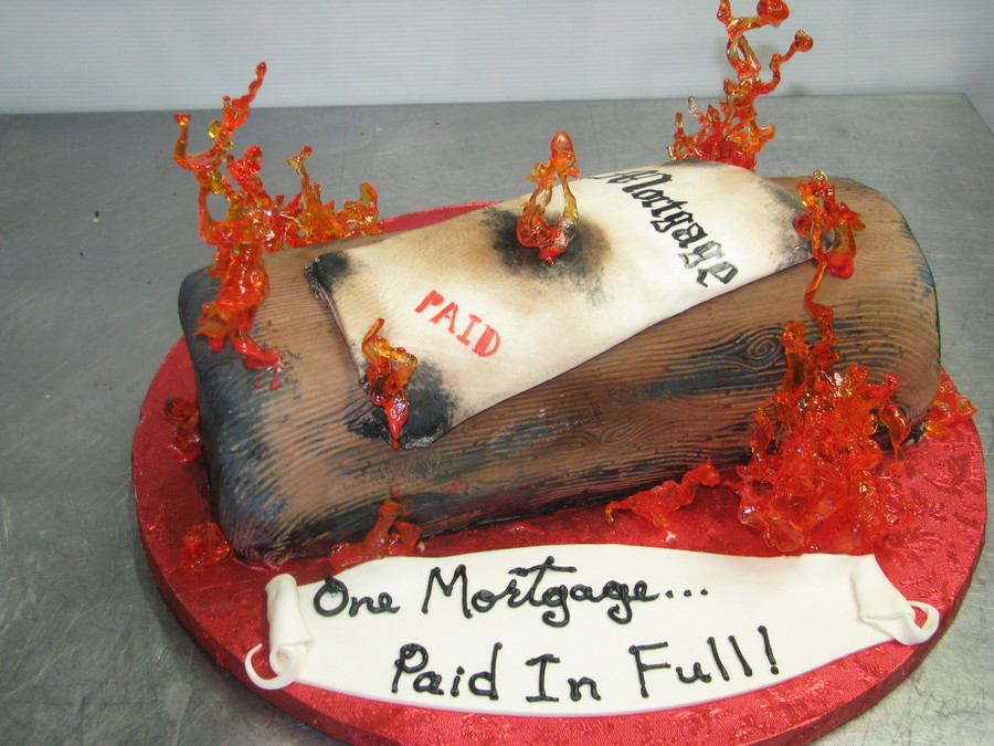 Mortgage Burning on Cake Central