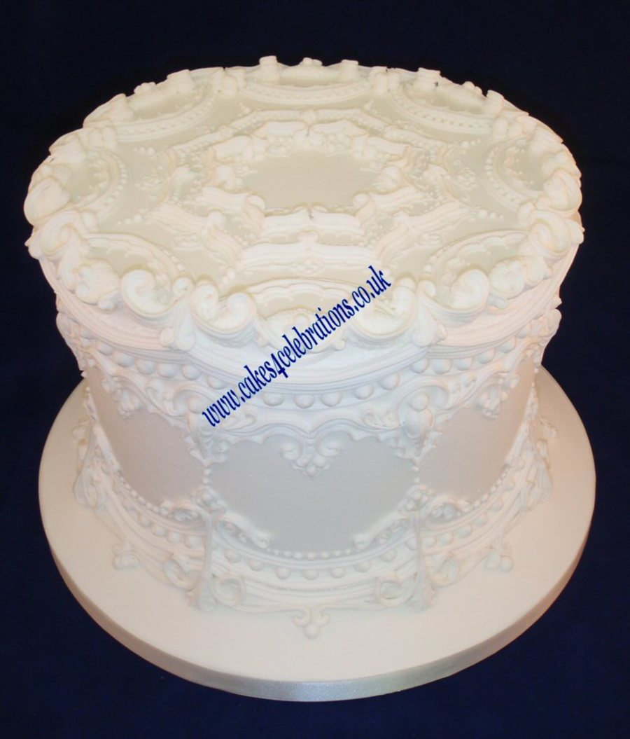 Tradional Style Royal Iced Cake 1910 on Cake Central
