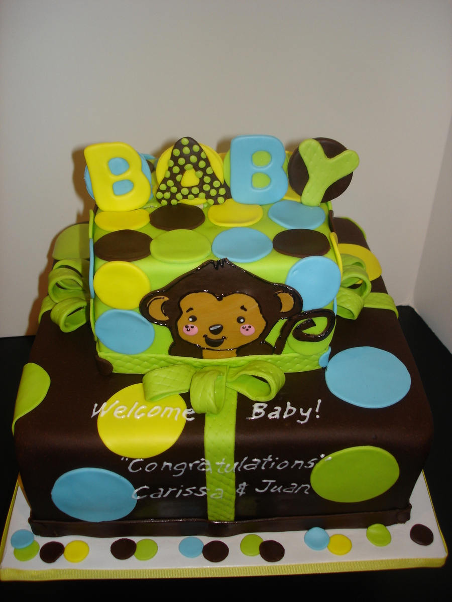Monkey Baby Shower on Cake Central