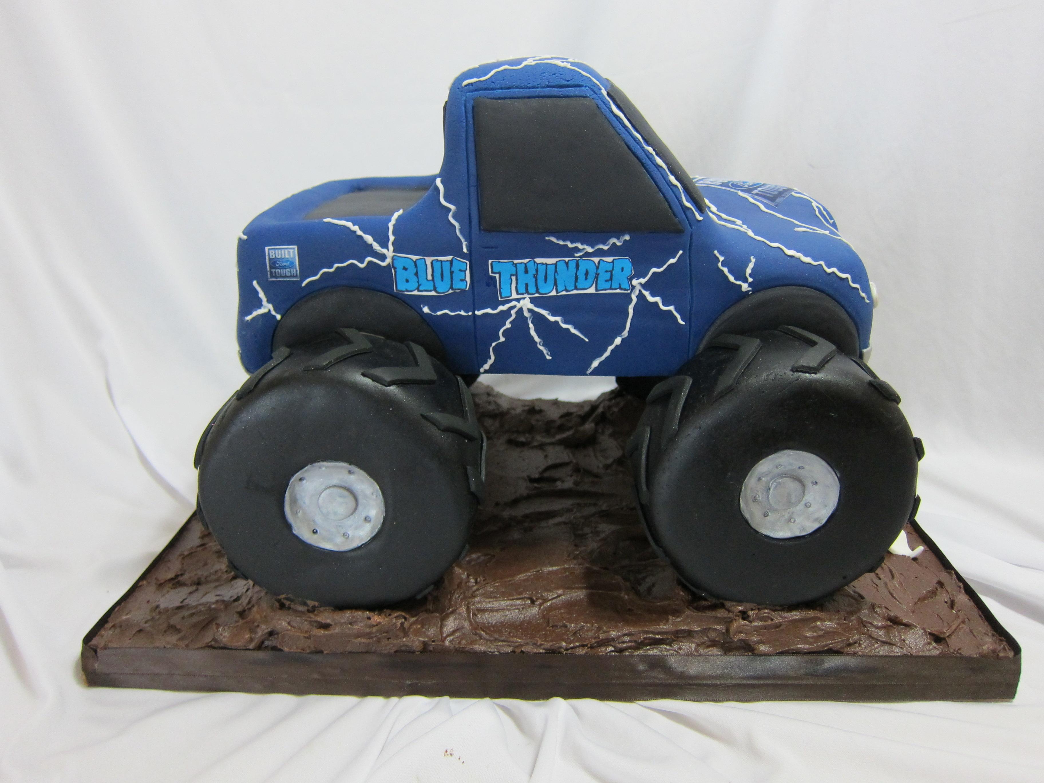 Blue Thunder Monster Truck Cakecentral Com