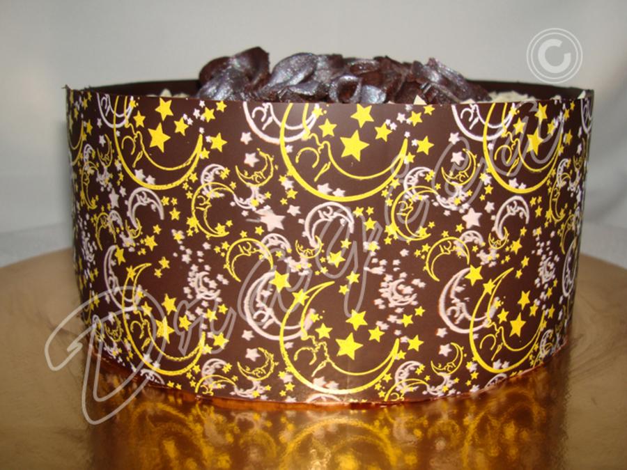 Chocolate Transfer Sheets Cake - CakeCentral.com