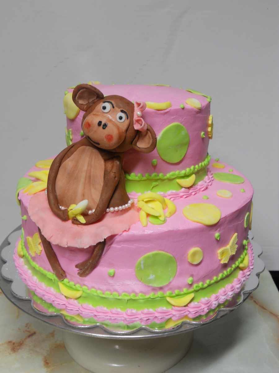 Pink Monkey on Cake Central