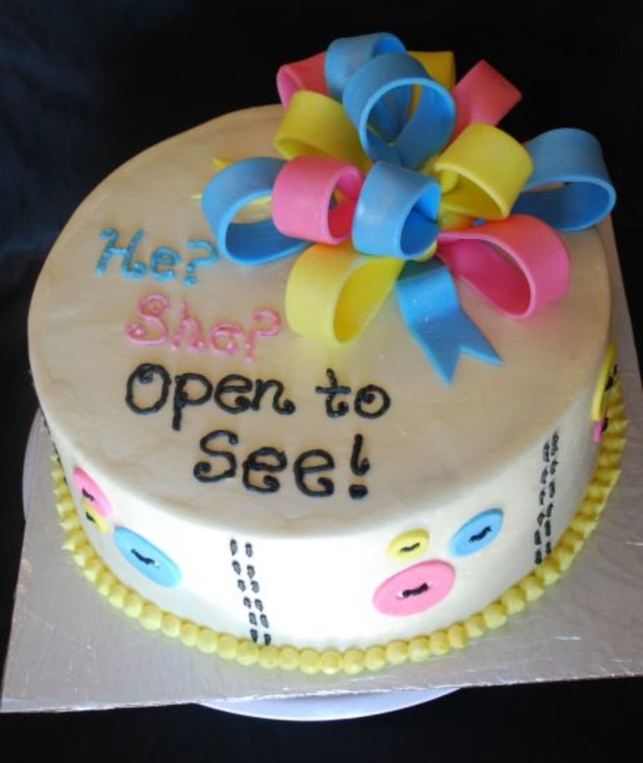 He? She? Open To See on Cake Central