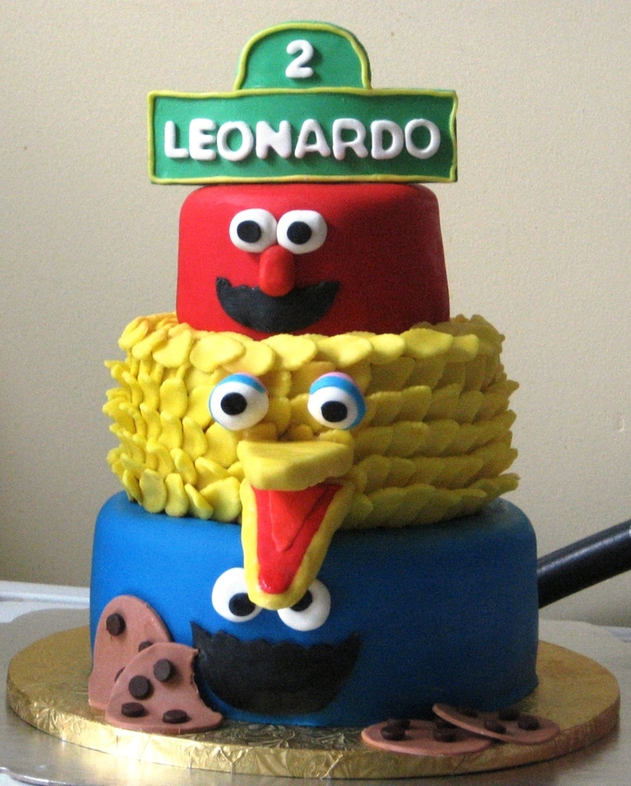 Super Sesame Street Birthday Cake Cakecentral Com Personalised Birthday Cards Petedlily Jamesorg