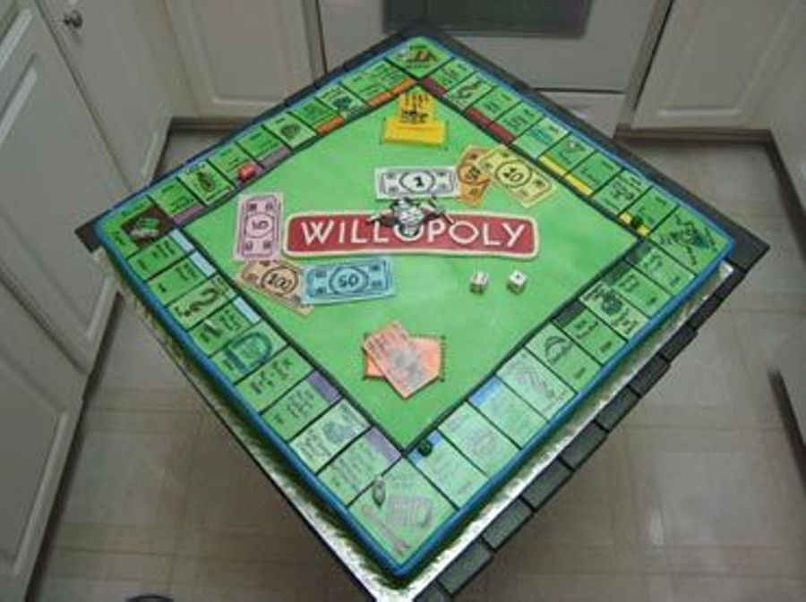Monopoly Groom's Cake on Cake Central