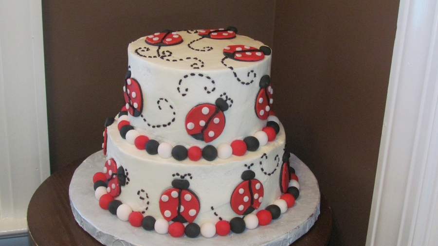 2 Tier Lady Bug Cake on Cake Central