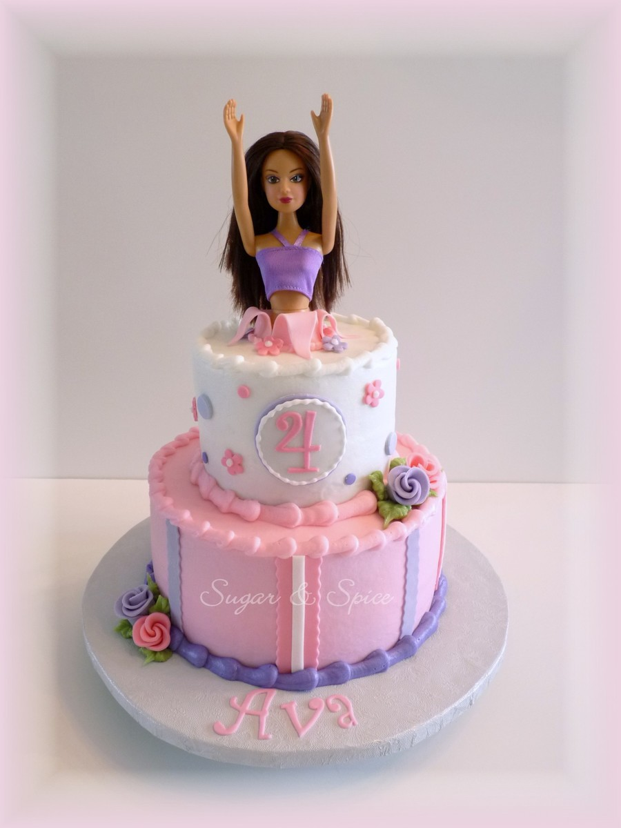 Ava's Barbie Cake  on Cake Central