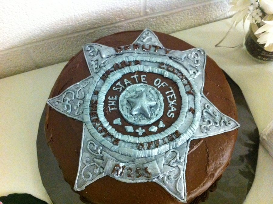 Sheriff Badge on Cake Central